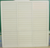 Shutter with aluminum frame and PVC blade