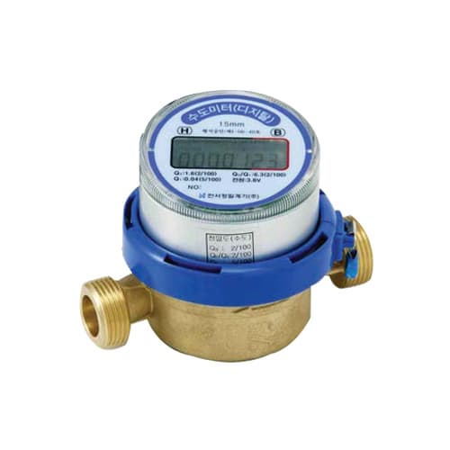 Digital Water Meter Reading : Digital single jet dry type hot water meter from hanseo