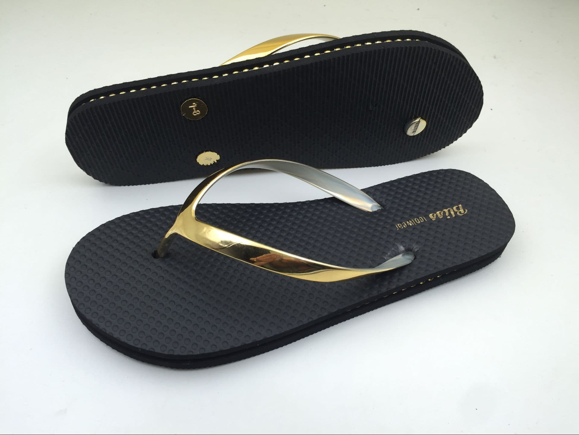 ca4e8ac99 Black Glitter Strap Flip Flops Women Summer Slippers