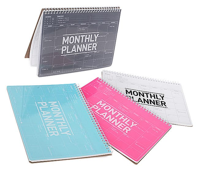 Monthly Planner With Transparent PP Cover
