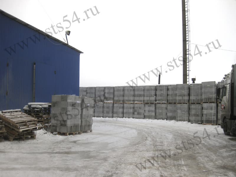 Foam concrete blocks plant