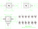 5_1 ratio bevel transmisson gearbox