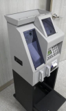 TM-305 Mixed Coin Value Counter with Cleaning Tray and Printer on Trolley