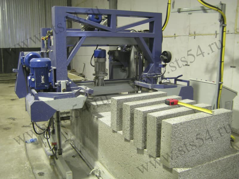 Automated lines polystyrene concrete blocks