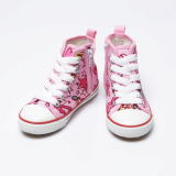 628N Printing Side Zipper High-top shoes
