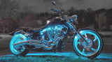 Motorcycle LED Night Rider Strip Kit RGB  _With Remote