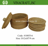 Nice rattan coaster set with storage box