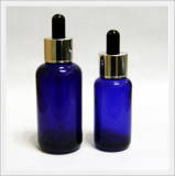 Spoid Glass Bottle - Round, Blue Color Type