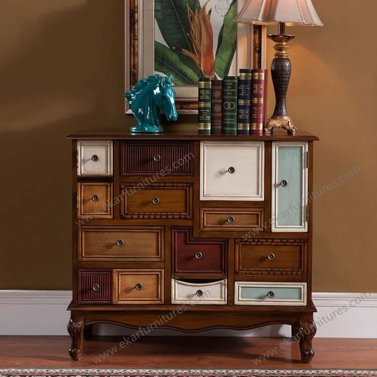 reclaimed wood furniture colorful design painted sideboard