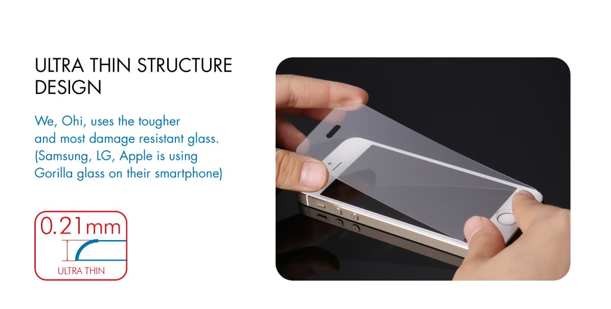 -Ohi Glass film-Iphone 5s-c 9h Tempered glass