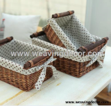 wholesale wicker basket rattan storage basket