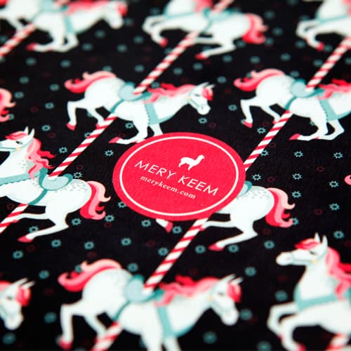 Pony Carousel Illustrated Ruled Notebook