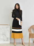 Skirt_ Long Skirt_ Three Lines_ Elasticated Bandage