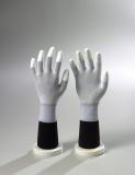 White Nylon / White PU Fingertips Coated