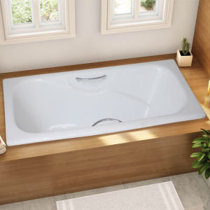 Product Thumnail Image Product Thumnail Image Zoom. Drop_in Cast Iron  Enamel Bathtub