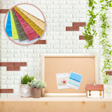 Wall deco foam brick sticker