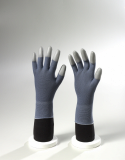 Grey Nylon / Grey PU Fingertips Coated Gloves
