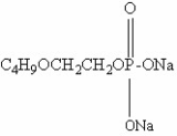ethylene glycol monobutyl ether phosphate sodium salt