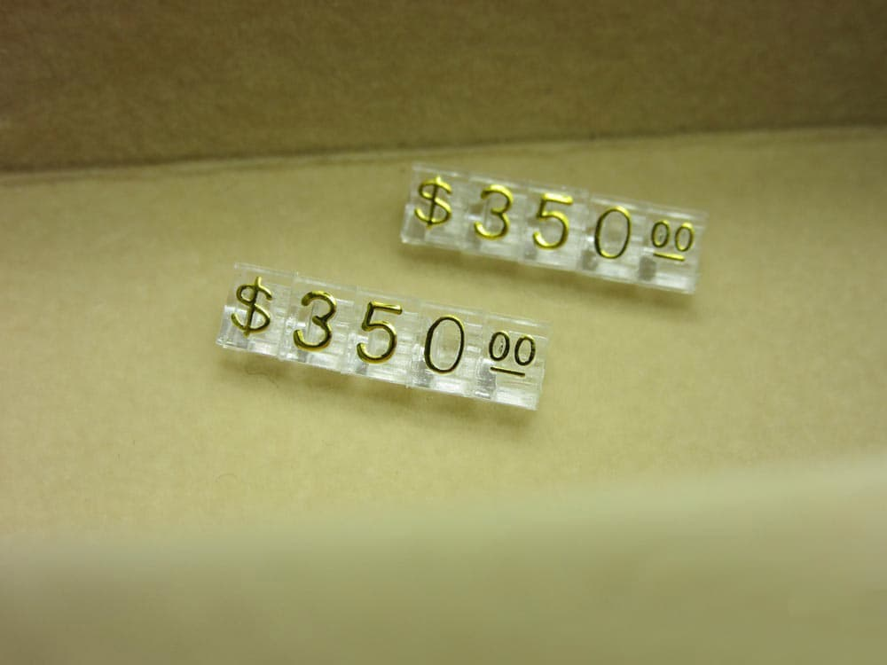 Clear Price Tags,Price Cubes for Jewellery Displays