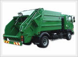 Garbage Truck-5Ton Green Packer