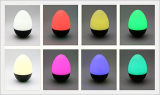 LED Mood Stand (Black Touch Egg)
