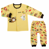 _hello cats_ keeping warm long sleeves pajama set