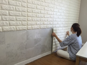 3d Wallpaper Sticky Formbrick Diy Qone