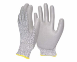 HI-STRENGTH YARN GLOVE WITH PU COATING.