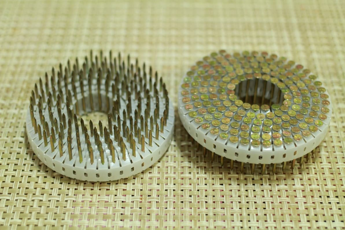 Mini_ Plastic Sheet_ Tape Collated_ Mini_Coil Nails for SENCO SCN30 _ OMER 21_32 _ DUOFAST Nailers