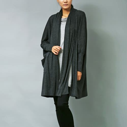 over size muffler cardigan