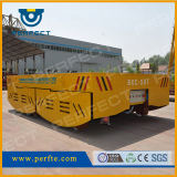 Material Handling Trolley_ Electric Flat Cart_ Rail Cart