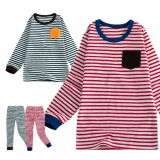 _pocket_ 20_s flice long sleeves pajama set