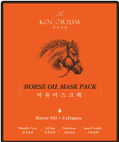 Korean Horse Oil Facial Mask for Moisture Skin Care