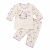 Withorganic 3quarters pajama set_owl