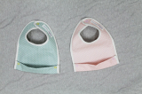 SOABE waterproof baby bib pink and green