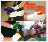 Cotton Latex(Natural Rubber) Coated Gloves