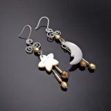 Star & Moon Earring