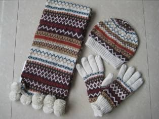 scarf-hat - glove sets-knit sets-3 set