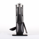 Nylon Kitchen Utensil set_ Plastic Holder_ Handle_Black