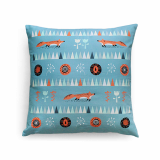 ILLUSTRATED CUSHION COVER_THROW PILLOW COVER _16 X 16_