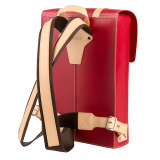Truhaven Leather Backpack for Men _ Women _Red_