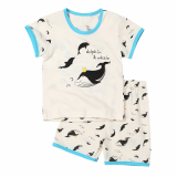 Withorganic short pajama set_dolphin and whale