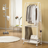 Movable Mini Dress Room Hanger White LS_0742