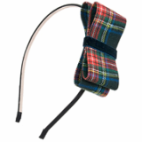 [Rena Chris]  Check Ribbon headband