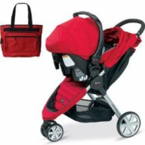 britax u341783kit2 b agile travel system with matching car seat and diaper bag in red from. Black Bedroom Furniture Sets. Home Design Ideas