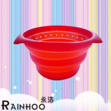 Silicone Streamer, Collapsible Bowl, folded basket, Casseroles, steaming basket, food container