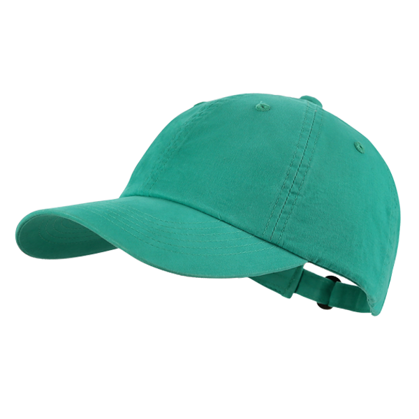 Cotton 6 panel blank ball cap with adjuster