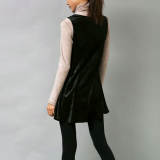velvet fabric drape dress