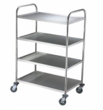 Stainless steel trays cart