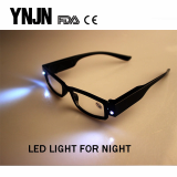 YNJN cheap plastic frame mens led reading glasses